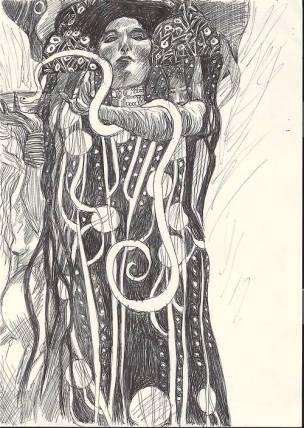 Biro study of Klimt 3