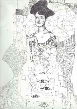 Biro study of Klimt 2